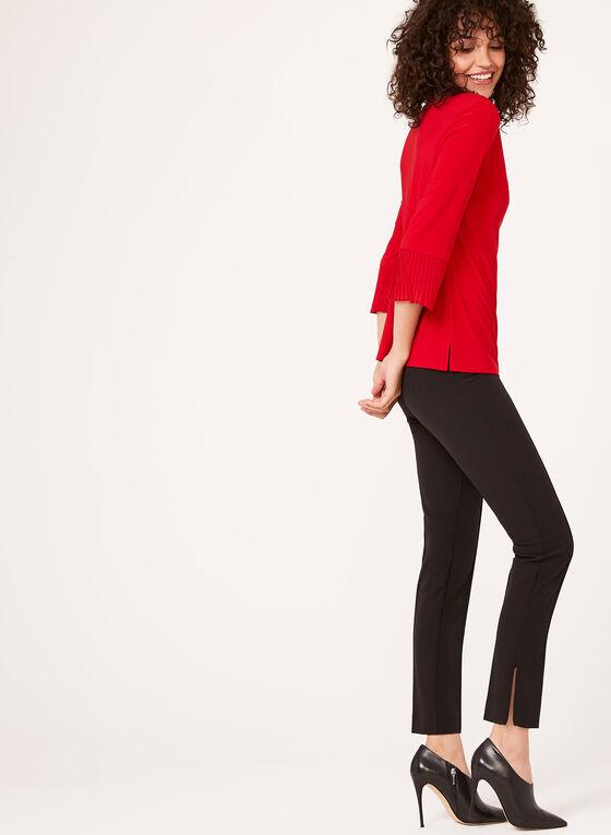 Pantalon coupe cité à jambe étroite et zip cheville, Noir, hi-res