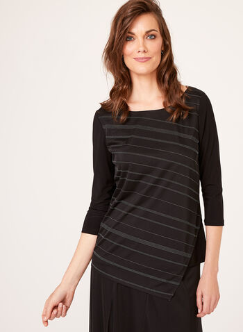Asymmetric Mesh Top, Black, hi-res