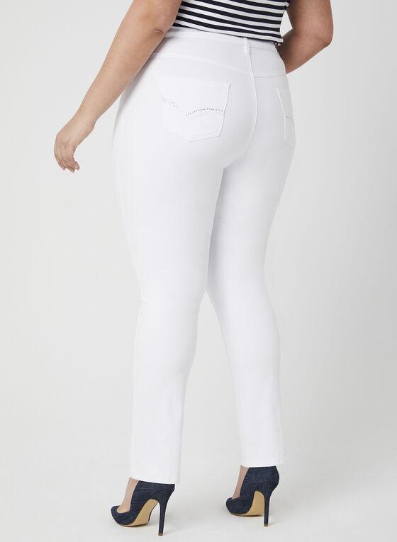 Simon Chang - Signature Fit Straight Leg Jeans, White, hi-res