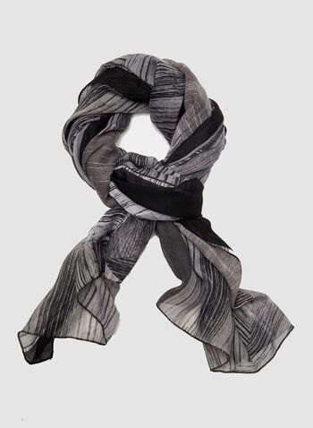 Foulard à motifs fantaisie, Noir, hi-res