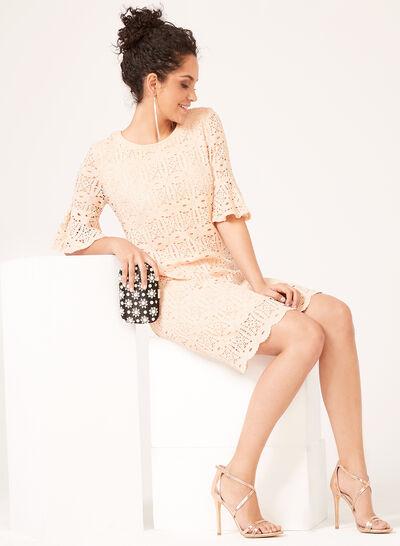 Pretty Lace Day Dress