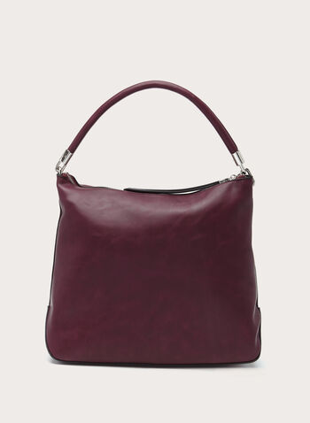 Zip Detail Hobo Bag, , hi-res