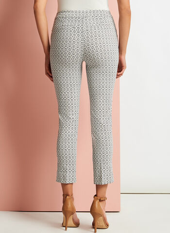 Geometric Print Slim Leg Pants, , hi-res