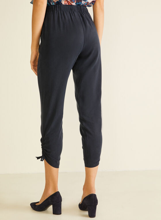 Drawstring Detail Tencel Pants, Blue