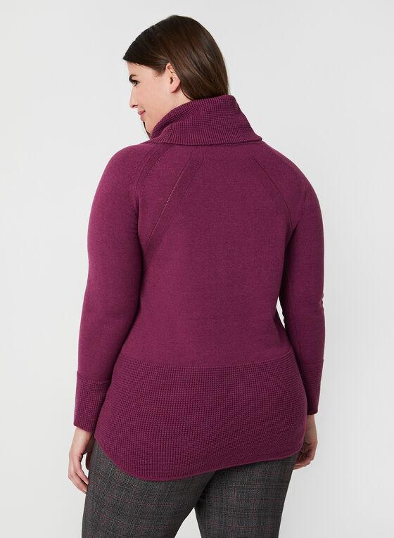 Cowl Neck Sweater, Purple