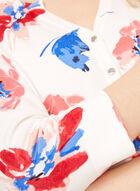 Floral Print Knit Cardigan, White, hi-res