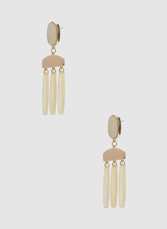 Chandelier Earrings, Off White