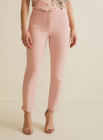 City Fit Straight Leg Pants, Pink,  pants, city fit pants, suits, straight leg, spring pants, summer pants, comfortable, ankle pants, summer 2020, spring 2020