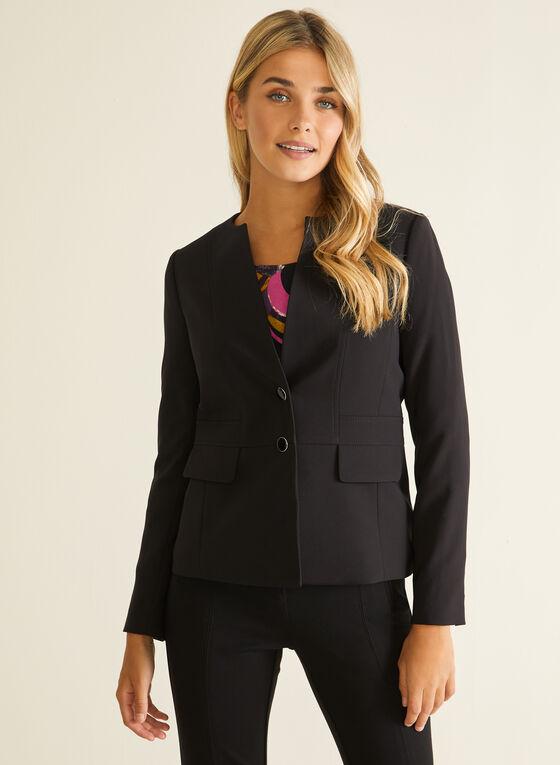 Two-Button Jacket, Black