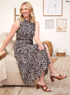 Zebra Print Shirt Dress, Black