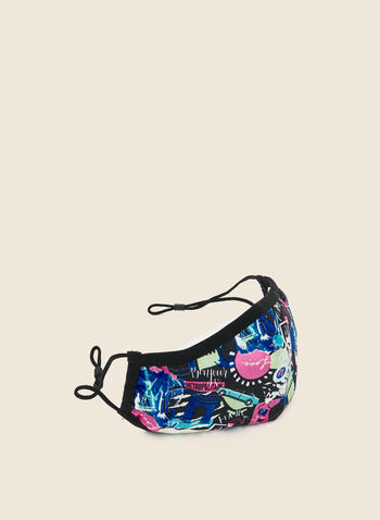 Bright Safe Care - World Tour Print Mask, Multi,  mask, cotton, protective, antibacterial, reusable, washable, adjustable, cotton, breathable, comfortable, spring summer 2020
