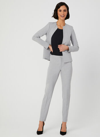 Two Button Blazer, Grey, hi-res,