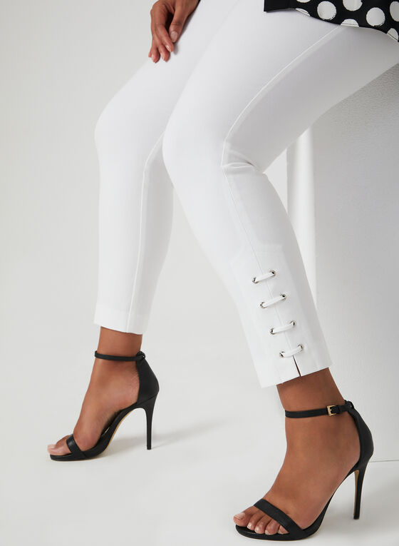 City Fit Slim Leg Pants, Off White, hi-res