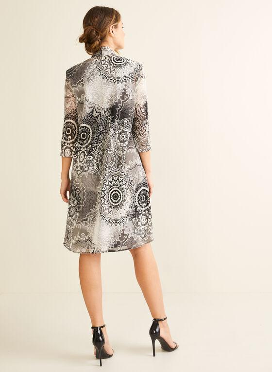 Ensemble robe et cardigan texturé, Noir