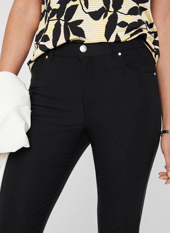 Simon Chang - Signature Fit Slim Leg Capri Pants, Black