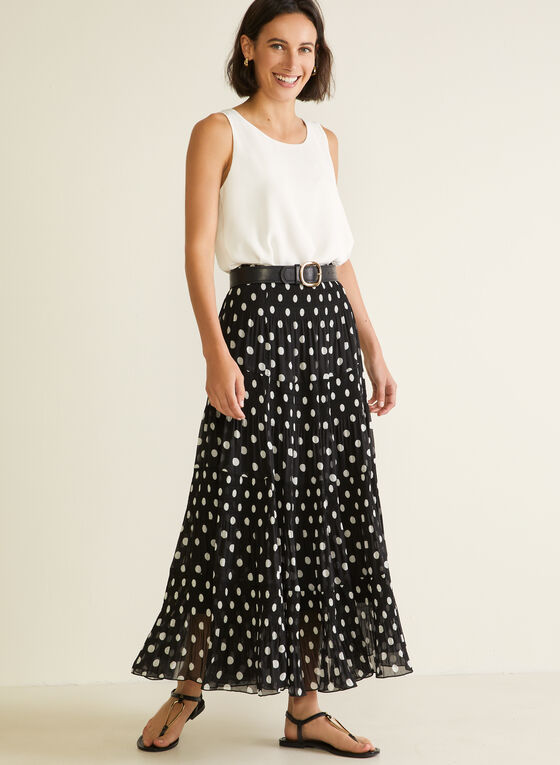 Alison Sheri - Maxi Peasant Skirt, Black