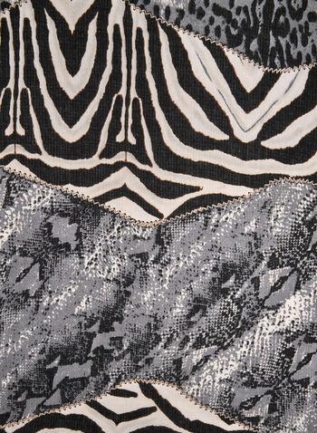 Foulard à imprimés animaliers variés, Gris, hi-res