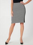 Houndstooth Pencil Skirt, Black, hi-res