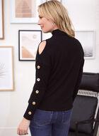 Cold Shoulder Button Detail Top, Black