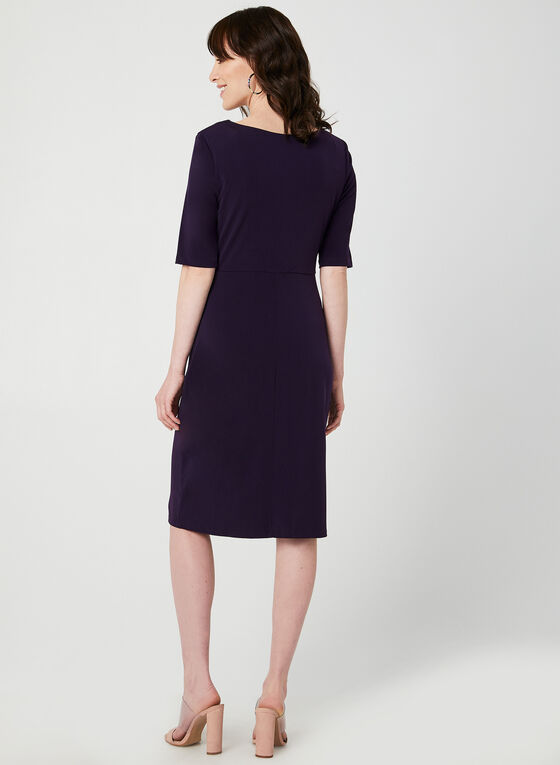 Jersey Elbow Sleeve Dress, Purple