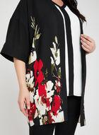 Blouse kimono à imprimé floral, Noir, hi-res