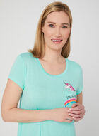 Pillow Talk - Unicorn Graphic Nightshirt, Blue, hi-res