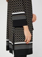 Geometric Print Jersey Duster, Black