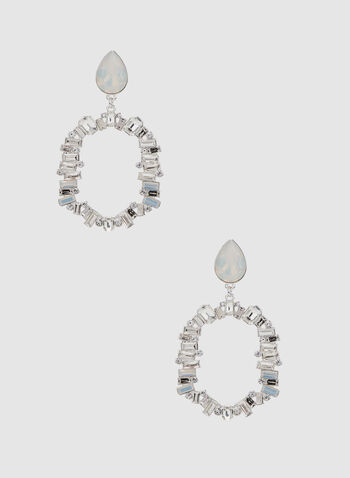 Boucles d'oreilles ajourées , Argent, hi-res,  open baguette, earrings, teardrop top, winter fall 2019