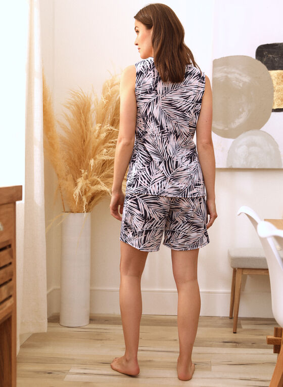 Tropical Print Pyjama Set, Blue
