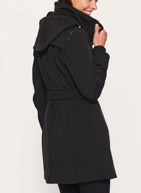 Manteau à coquille souple doublé polaire , Noir, hi-res