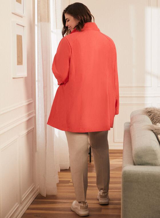 Imperméable à capuchon amovible, Orange