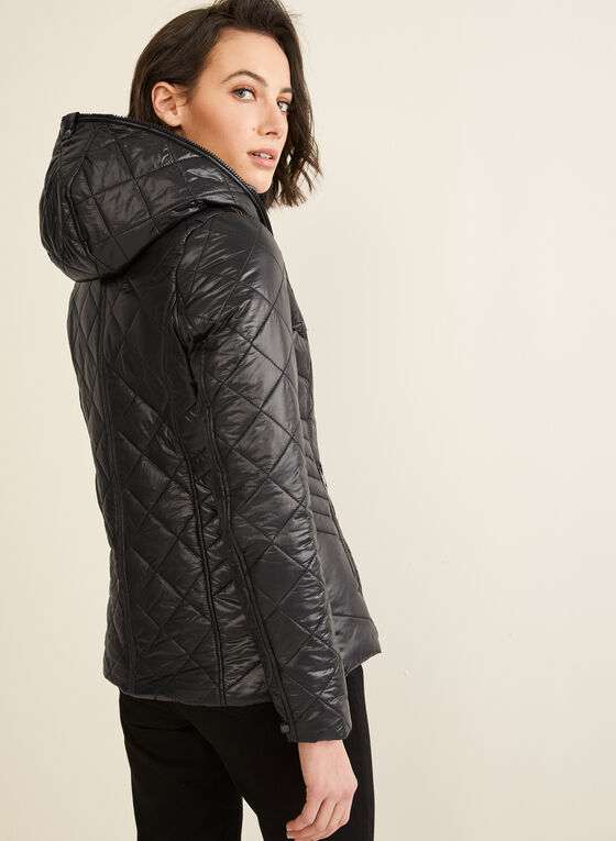 Novelti - Diamond Quilted Coat, Black