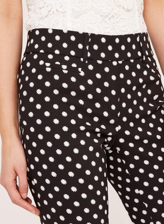 Jules & Leopold - Capri pull-on à motif floral, Noir, hi-res