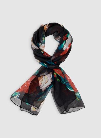 Foulard léger à imprimé floral, Multi, hi-res,  roses, mousseline, automne hiver 2019, motif, motifs, fleurs