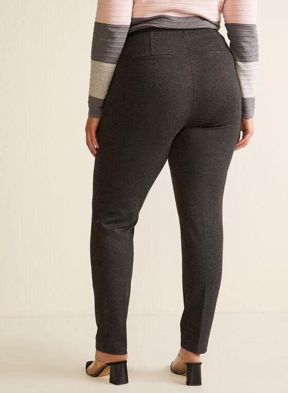 Slim Leg Pull On Pants, Grey