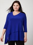 Joseph Ribkoff - Asymmetric Jersey Tunic, Blue