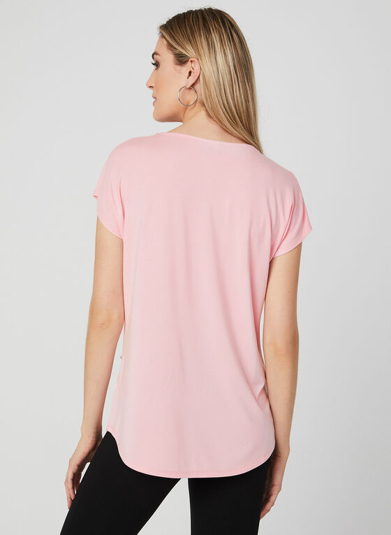 Pearl Embellished Top, Pink, hi-res