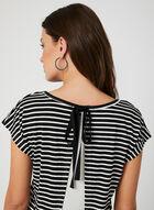 Ness - Stripe Print Top, Black, hi-res