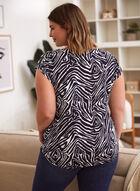 Zebra Print Tee, Blue