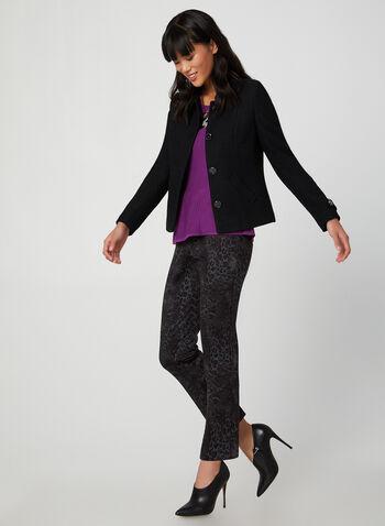 Animal Print Slim Leg Pants, Purple, hi-res,  canada, fall 2019, winter 2019, snakeskin print, slim leg, stretchy, animal print, snakeskin pant, python print, slim leg pant