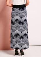 Graphic Print Maxi Skirt, Blue, hi-res