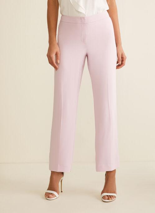 Pantalon coupe moderne à jambe large, Violet