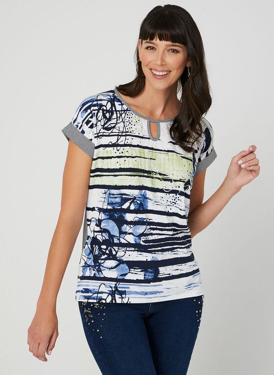 Drop Shoulder T-Shirt, Blue, hi-res