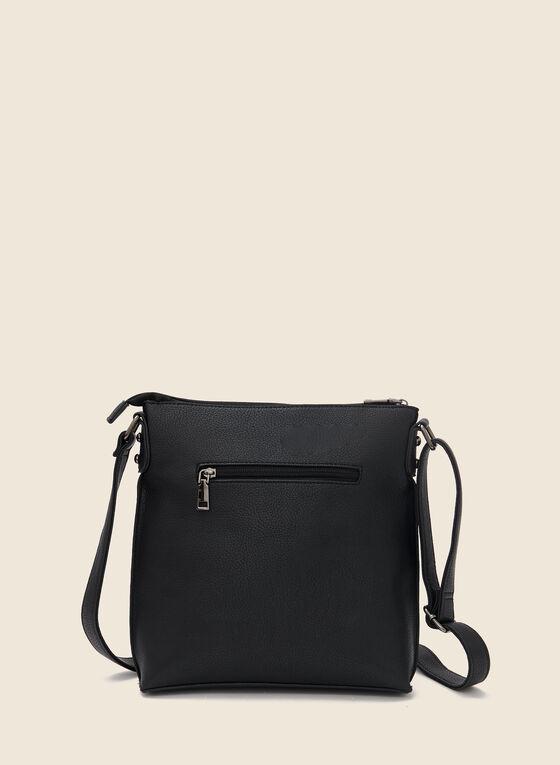 Stud Detail Crossbody Bag, Black