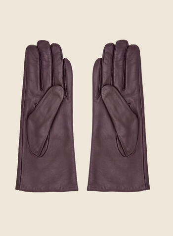 Leather Gloves, Red,  fall winter 2020, leather, real leather, genuine leather, gloves, holiday, holiday 2020, gift