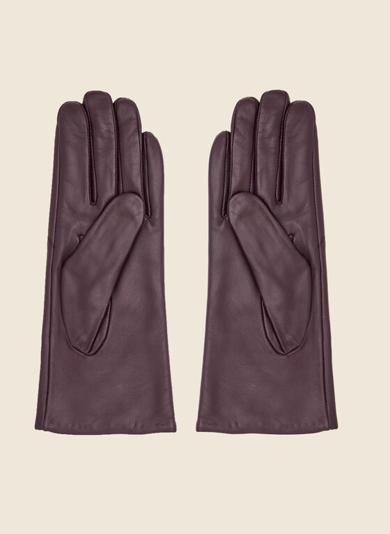 Leather Gloves, Red