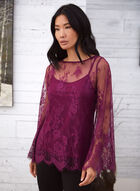 Lace Blouse With Bell Sleeves, Purple