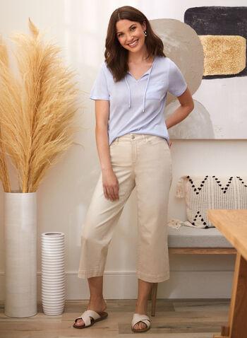 Linen Tee, Blue,  spring summer 2021, tops, t-shirt, lightweight, cords, breast pocket