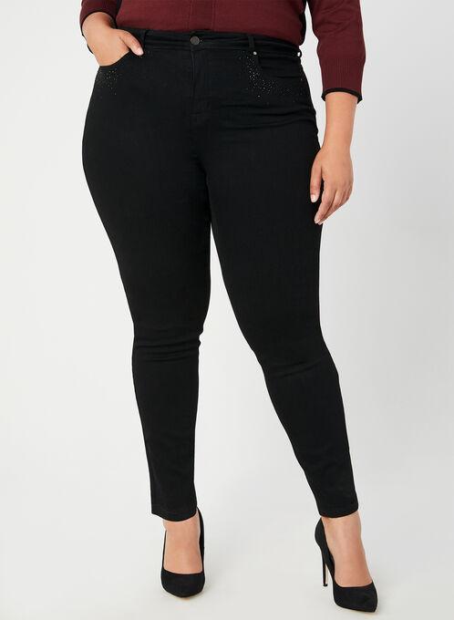 Signature Fit Straight Leg Jeans, Black