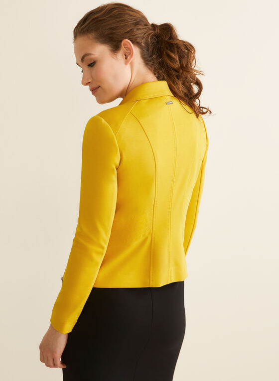 Topstitch Blazer, Yellow